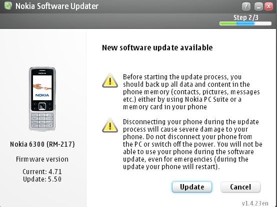 Nokia Software Update Nokia 6300 5.5