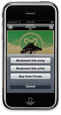 iphone menu2 - Pandora arrive sur le iPhone!