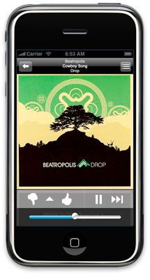 iphone now playing2 - Pandora arrive sur le iPhone!