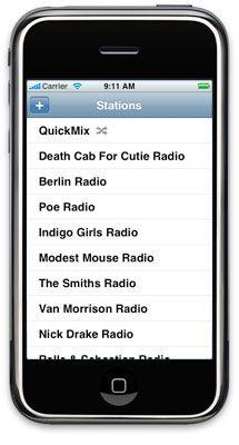 iphone stations2 - Pandora arrive sur le iPhone!