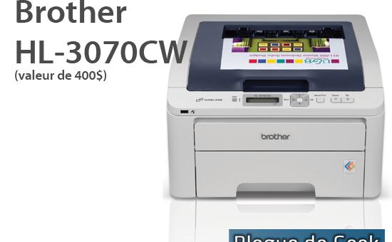 CONCOURS: Gagner une imprimante réseau Brother HL-3070CW!