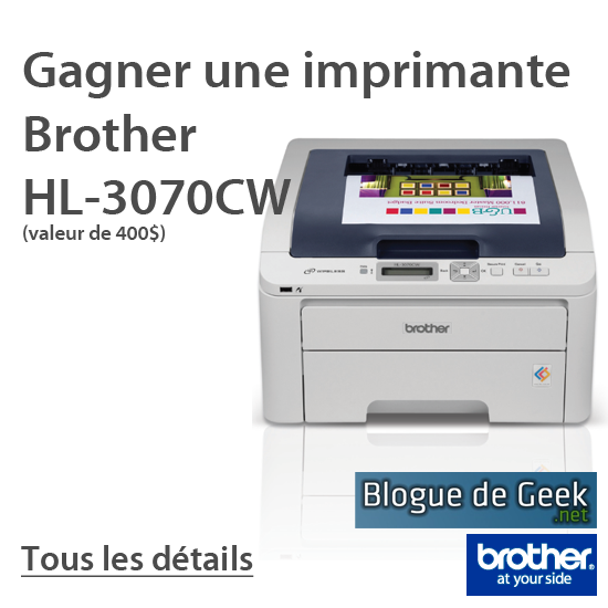 concours brother large - CONCOURS: Gagner une imprimante réseau Brother HL-3070CW!