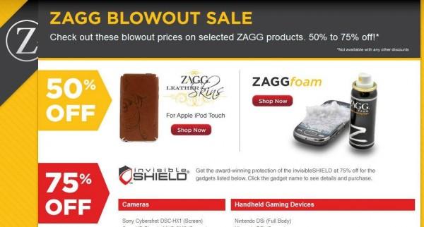 zagg blowout 600x322 - Rabais de 50% et 75% chez ZAGG! [Vente]
