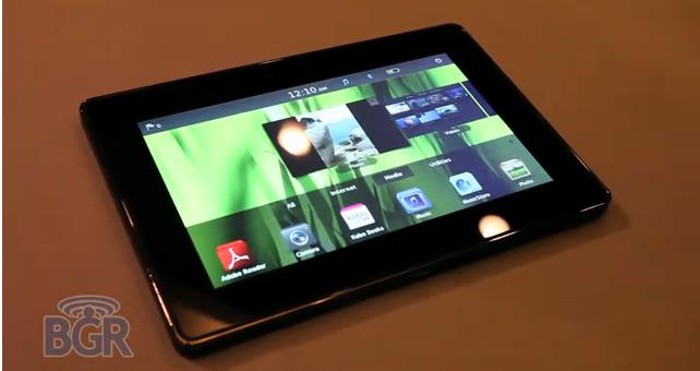 La BlackBerry Playbook en démo chez BGR!