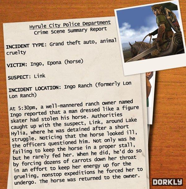 hyrule police report 1 - Les rapports de police sur les méfaits de Link!
