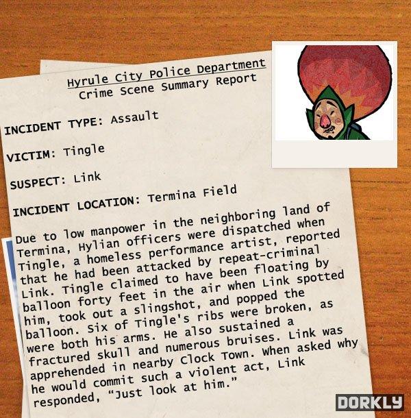 hyrule police report 2 - Les rapports de police sur les méfaits de Link!