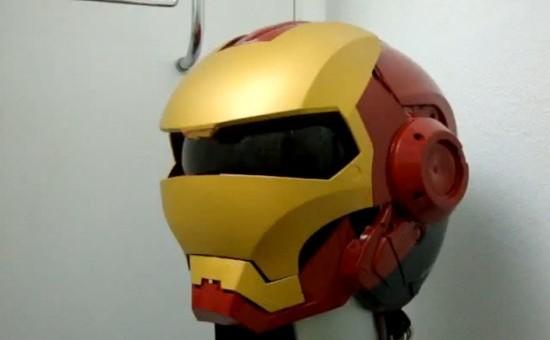 Casque de moto d'Iron Man! Et War Machine!