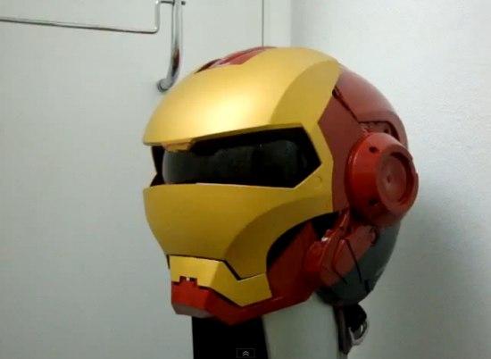 casque de moto d iron man et war machine blogue de geek. Black Bedroom Furniture Sets. Home Design Ideas