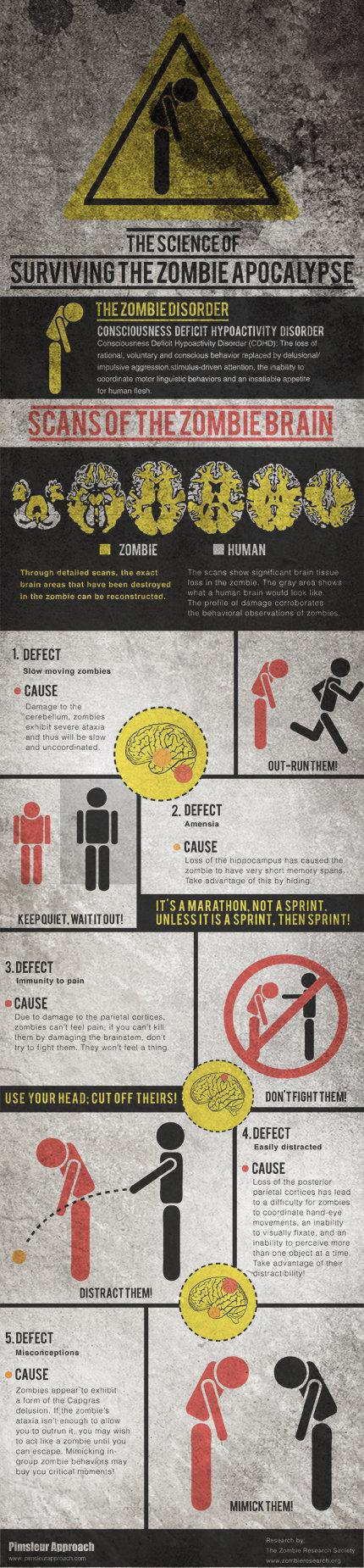 science of zombies - [Zombies] Comment la science vous aide à survivre! [Infographique]