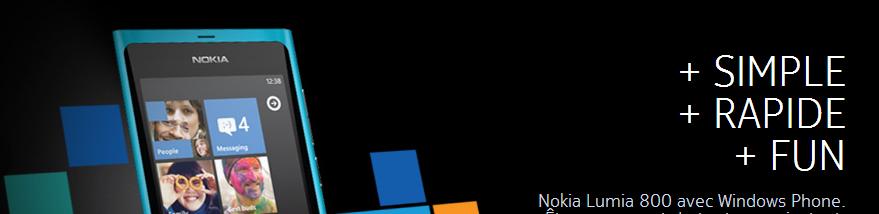 Nokia Lumia 800 - Entete