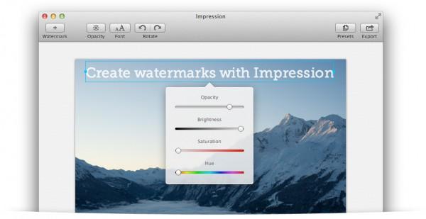 impression 2 main 3 600x309 - Impression 2.0 pour Mac OS X est disponible