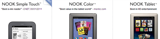 nook entete - Nook, Nook Color et Nook Tablet [Présentation]