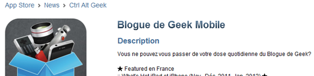 Blogue de Geek Mobile 1.4 entete