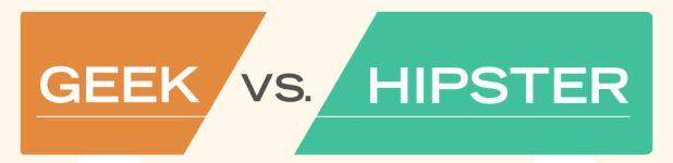 geek vs hipster entete - Geek vs. Hipster [Infographique]