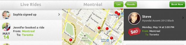 live rides - Live Rides, le covoiturage sur mobile fait au Québec