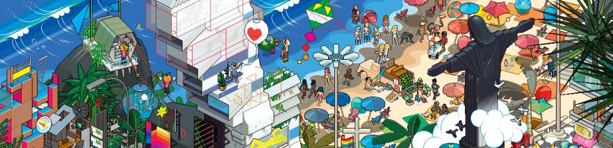 EBY Rio Poster 34k 882x623 e1355333609748 - eBoy et pixels, une histoire d'amour!