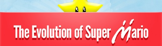 evolution of super mario th 520x150 - L'évolution de Mario [Infographique]