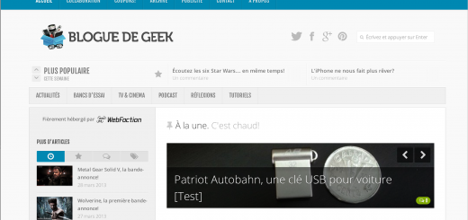 blogue de geek v3 screenshot 520x245 - Le Blogue de Geek v.3.0 est en-ligne!