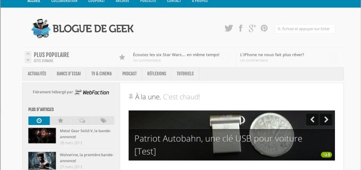 Le Blogue de Geek v.3.0 est en-ligne!