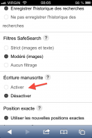 Googlez grâce à lécriture manuscrite! actualites  requête recherche moteur de recherche Google écriture manuscrite