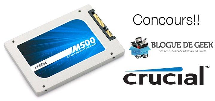 concours crucial m500 ssd - Gagnez un disque SSD m500 de Crucial! [Concours]