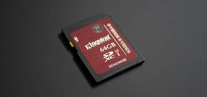 Carte SDHC/SDXC UHS-I U3 64Go de Kingston [Test]