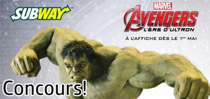 concours subway avengers age of ultron - Gagnez une carte cadeau @SubwayCanadaFr de 250$! [Concours]