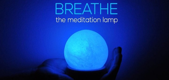 breathe meditation lamp - Breathe, la lampe de méditation [Kickstarter]